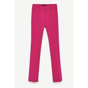 🔥Nwot ZARA Flared Fuchsia Trousers Sz L